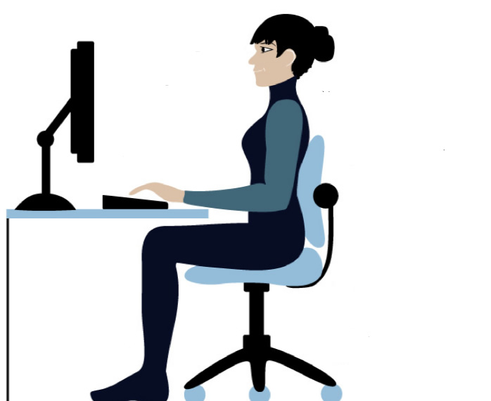 computer workstation ergonomics exercises reduce stress