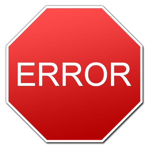 """A red stop sign reading """"ERROR"""" representing you can reduce stress by thinking of errors and mistakes as learning opportunities."""