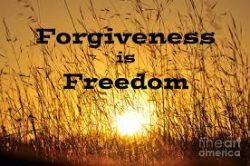 Uplifting graphic showing forgiveness relieves stress