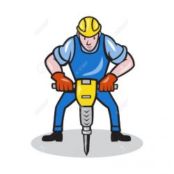 The image displays a jackhammer to show using a jackhammer and visioning a seagull soaring at the same time is impossible.