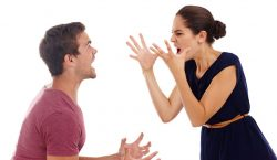 Image of a man and a woman verbally fighting