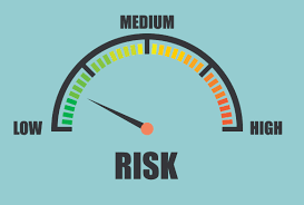 Image of a gauge showing low, medium, and high risk