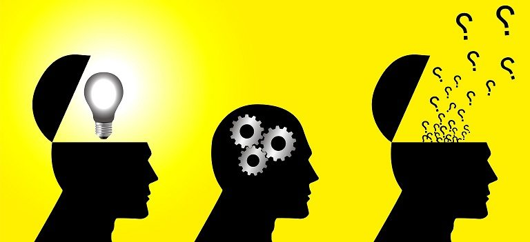 Image of three silhouettes, each problem solving in a different way