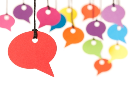 Image of colorful speech bubbles